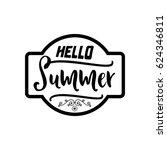 summer   handmade template.... | Shutterstock .eps vector #624346811