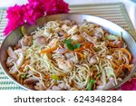 pansit canton receipy by... | Shutterstock . vector #624348284