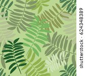 tropical seamless pattern with... | Shutterstock .eps vector #624348389
