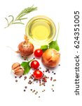 mediterranean food and drink... | Shutterstock . vector #624351005