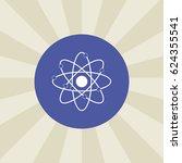 atom icon. sign design....
