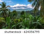 mount halcon in the clouds...   Shutterstock . vector #624356795