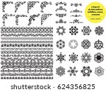 asian large set of patterns and ... | Shutterstock .eps vector #624356825