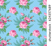 seamless pattern with roses and ...