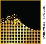 elegant vector black and gold...   Shutterstock .eps vector #62437381