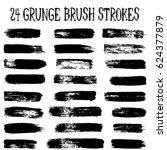 vector set of 24 trendy black... | Shutterstock .eps vector #624377879