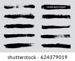 grunge brush strokes.vector... | Shutterstock .eps vector #624379019