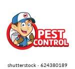 exterminator or pest control... | Shutterstock .eps vector #624380189
