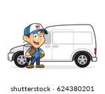 exterminator or pest control... | Shutterstock .eps vector #624380201