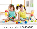 children playing together.... | Shutterstock . vector #624386105