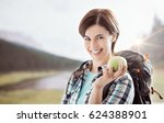 Young Smiling Woman Hiking On...