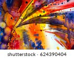 abstract watercolor texture.... | Shutterstock . vector #624390404