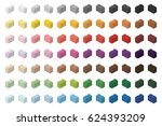 children brick toy simple color ... | Shutterstock .eps vector #624393209