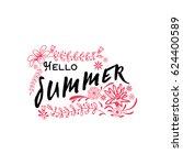 summer   handmade template.... | Shutterstock .eps vector #624400589
