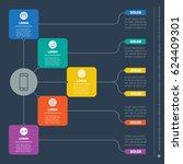business presentation concept... | Shutterstock .eps vector #624409301