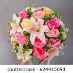 wedding flower | Shutterstock . vector #624415091
