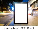 night scene of empty light box... | Shutterstock . vector #624415571