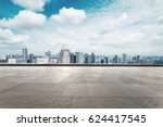 cityscape of modern city from... | Shutterstock . vector #624417545