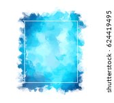 abstract watercolor uneven spot ... | Shutterstock . vector #624419495