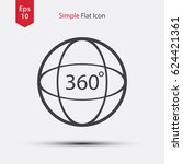 circle 360 degree text inside.... | Shutterstock .eps vector #624421361