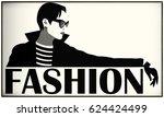 fashion woman in style pop art. ... | Shutterstock . vector #624424499