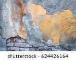 background texture old brick... | Shutterstock . vector #624426164