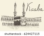holy kaaba in mecca saudi... | Shutterstock .eps vector #624427115