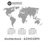 earth world map of spiral line. ... | Shutterstock .eps vector #624431894