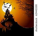 halloween landscape | Shutterstock .eps vector #62443330