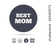 best mom sign icon. award... | Shutterstock .eps vector #624433571