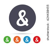 ampersand rounded sign icon.... | Shutterstock .eps vector #624438455