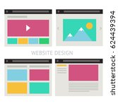 set of vector website template...
