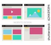 set of vector website template...