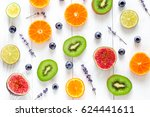 cut fruit design with blueberry ... | Shutterstock . vector #624441611