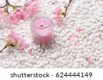 Pink Cherry Flower With Candle...