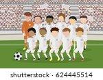 white uniform football team... | Shutterstock .eps vector #624445514