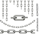 collection of chains curved ... | Shutterstock .eps vector #624450599