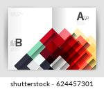 square design corporate... | Shutterstock .eps vector #624457301
