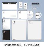 black and white modern... | Shutterstock .eps vector #624463655