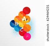 circle modern geometry... | Shutterstock .eps vector #624464231