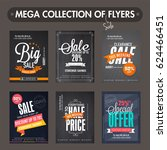 mega collection of big sale and ... | Shutterstock .eps vector #624466451