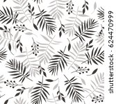 black and white seamless pattern | Shutterstock . vector #624470999