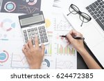 business accountant with... | Shutterstock . vector #624472385
