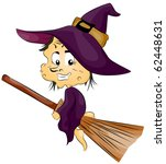illustration featuring a witch... | Shutterstock .eps vector #62448631