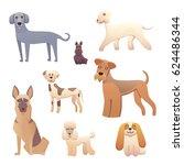 different type of cartoon dogs. ...   Shutterstock .eps vector #624486344