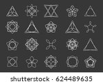 set of geometric shapes. can be ... | Shutterstock .eps vector #624489635