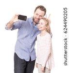 happy smiling caucasian father... | Shutterstock . vector #624490205
