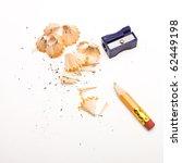 pencil sharpener and wood... | Shutterstock . vector #62449198