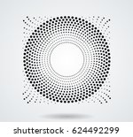 halftone dots in circle form .... | Shutterstock .eps vector #624492299