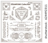 vector steampunk elements for... | Shutterstock .eps vector #624492311